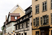 STRASBOURG, FRANCE - June 17, 2017 : Street view of ancient buildings at Strasbourg, Alsace, France