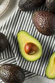 Healthy Organic Green Avocados