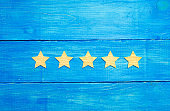 Quality status is five stars. A new star, achievement, universal recognition.The concept of the rating of hotels and restaurants, the evaluation of critics and visitors. Quality level, good service.