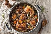 Homemade French Coq Au Vin Chicken