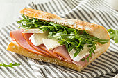 Homemade French Ham and Brie Baguette Sandwich
