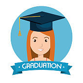 graduation card isolated icon