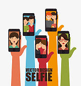 character selfie smartphone design