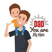 happy fathers day characters