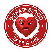 donate blood healthcare icon