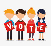 cartoon elections vote design