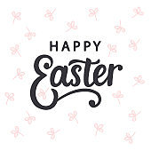 Happy Easter typography poster template