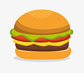 delicious hamburger fast food