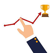 success growth wining icon design