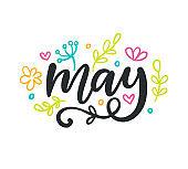 May. Spring modern calligraphy