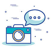 camera photographic with icon