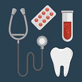 set medical isolated icons