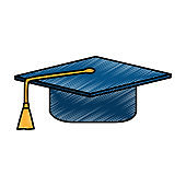 graduation hat isolated icon