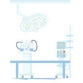 Modern Operating Room Medical Equipment Vector