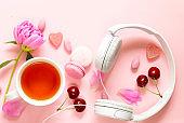 cup refreshing tea drink
