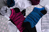 Short clean knitted socks