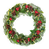 Traditional Winter and Christmas Wreath