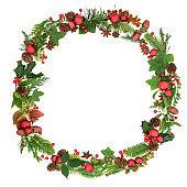 Traditional Christmas Wreath Garland
