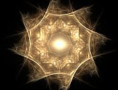 Fractal Elements series. Composition of fractal shapes and colors