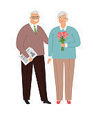 Elderly couple in love