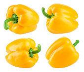 Paprika. Pepper yellow.
