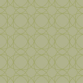 Olive green geometric ornament. Seamless pattern