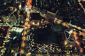 Taipei Cityscape From Above at night
