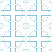 White and navy blue geometric ornament. Seamless pattern