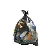 close up of a garbage bag 3d render on white background no shadow