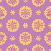 Floral seamless pattern. Colored background