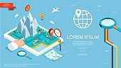 Isometric GPS Navigation Template