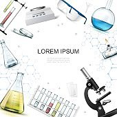 Realistic Chemical Laboratory Template