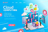 3d isometric cloud computing
