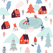 Christmas seamless pattern in vector.