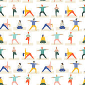 Healthy lifestyle yoga vector illustration