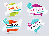 Sale banners design, discounts and special offer. Shopping background, label for business promotion. Vector illustration.