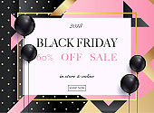 Black Friday Sale banner. Can be used for website and mobile website banners, web design, posters, email and newsletter designs.