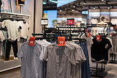 clothes in shopping mall