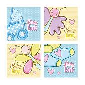 Baby love cartoons cards