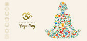 Yoga day web banner for healthy lifestyle