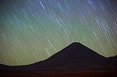 Night at Licancabur volcano, San Pedro de Atakama, Chile