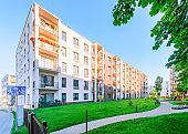 New apartment building children playground Vilnius