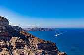 santorini island caldera view, the cyclades, greece