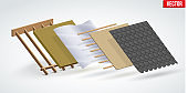 Bitumen shingles roofing cover and layers