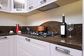 Luxury modern beige kitchen
