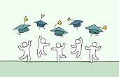 little people celebrate graduation.