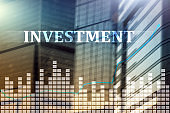 Investment, ROI, financial market concept.