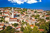 Stone village Lozisca on Brac island view, Dalmatia, Croatia