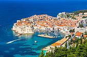 Old town of Dubrovnik in summer, Dalmatia, Croatia