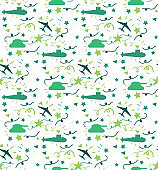 Military seamless pattern